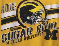 2012  Champion MICHIGAN WOLVERINES  ALLSTATE SUGAR BOWL  Medium T-Shirt