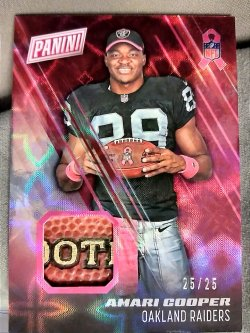 2016 Panini NFL Kickoff Amari Cooper BCA Pink Ribbon Swatch Galatic Window Parallel