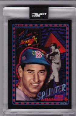 2020 Topps Project 2020 Ted Williams by Efdot