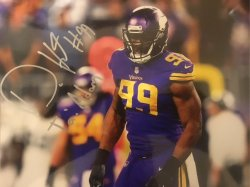Danielle Hunter Signed Personalized 8x10