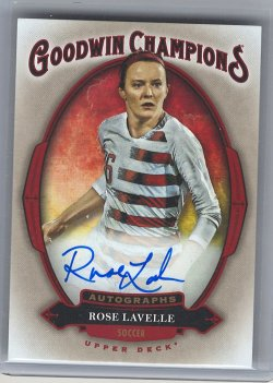 2020 Upper Deck Goodwin Rose Lavelle Autograph