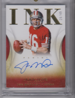 2014 Panini immaculate ink joe montana