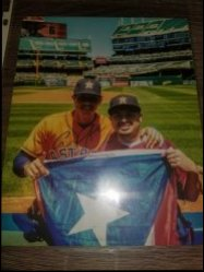 Carlos Correa 8x10 Personal Photo IP Autograph