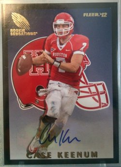 2012 Upper Deck Fleer Retro Case Keenum rookie sensations auto