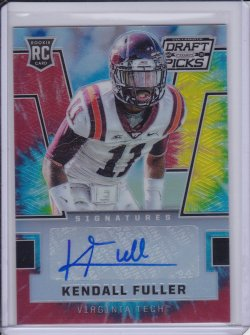 Kendall Fuller 2016 Panini Prizm Draft Picks Autographs Prizms Tie Dyed /49