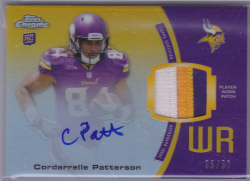 2013 Topps Chrome Cordarrelle Patterson Auto Patch