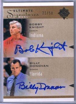 2010 Upper Deck Ultimate Bob Knight & Billy Donovan Dual Autograph
