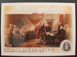 2006 Topps Declaration of Independence Philip Livingston