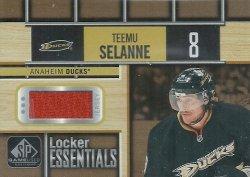 2018/19  SP Game Used Locker Essentials Jersey Placard Selanne