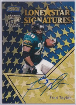 1999  Stadium Club - Lone Star Signatures Fred Taylor