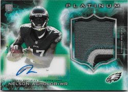 2015 Topps Platinum Rookie Patch Autographs Green Refractors Nelson Agholor