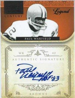 2011 Panini National Treasures Paul Warfield Century auto