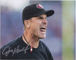 Jim Harbaugh Signed IP 8x10 Photo
