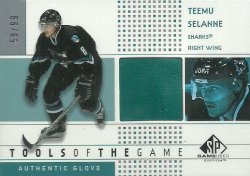 2002/03  SP Game Used Tools of the Game Selanne (Glove)