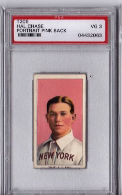 1909  T206 Sweet Caporal 150 Hal Chase