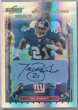 2006  Score Select Tiki Barber Inscriptions