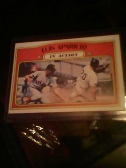72 Topps In action Luis apparicio