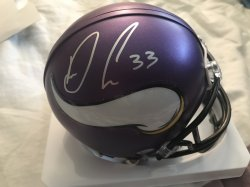 Dalvin Cook Signed Mini Helmet