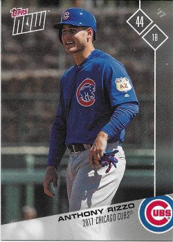 2017 Cubs Topps Now Road To Opening Day Rizzo
