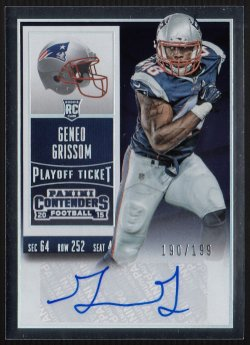 2015 Panini Contenders Playoff Ticket Geneo Grissom