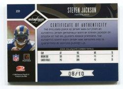 2004 Leaf Limited Steven Jackson Gold Spotlight Back