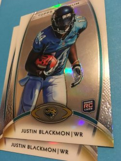 2012 Topps Platinum RC ReFractor  JUSTIN BLACKMON #140 Jaguars Oklahoma State WR
