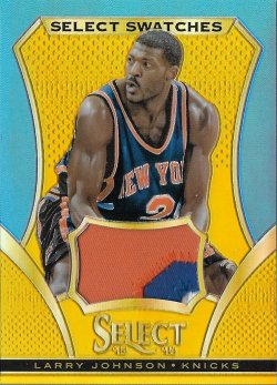 2013-14  Select Swatches Prizms Gold Larry Johnson #ed 7/10