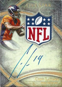 2014 Topps Five Star Cody Latimer Rookie Shield autograph