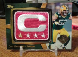 2013 Topps NFL Captains Patch BCA Clay Matthews