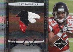 Harry Douglas 2008 Leaf Limited Team Logo Patch Autograph