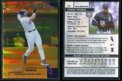 1999  Topps Finest Gold Refractor Frank Thomas