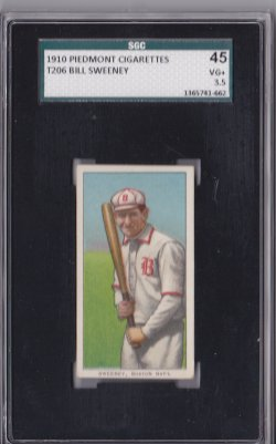1909  T206  Bill Sweeney - Piedmont 350