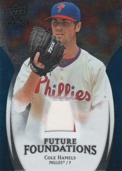 2009 Upper Deck Icons Future Foundations jersey Cole Hamels