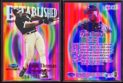 1999  Fleer Mystique Established Frank Thomas