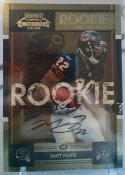 2008 Playoff Contenders Matt Forte rookie ticket auto