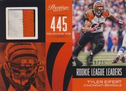 2014 Panini Prestige Rookie League Leader Jerseys Prime Tyler Eifert