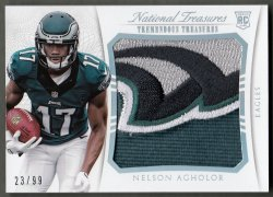2015 Panini National Treasures Tremendous Treasures Materials Horizontal Nelson Agholor