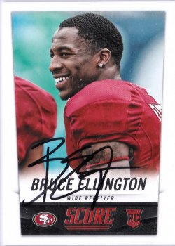 2014 Score  Bruce Ellington RC IP Auto