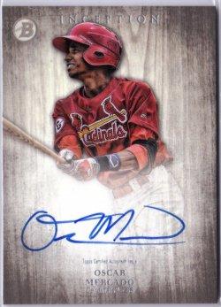 2014 Bowman Inception Prospect Autograph Oscar Mercado