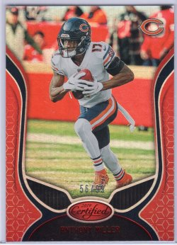 2019 Panini Certified Anthony Miller Base Mirror Red