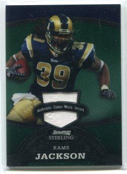 2008 Bowman Sterling Steven Jackson Emerald Jersey