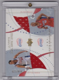 2002-2003 Upper Deck Ultimate Dual Jerseys Andre Miller / Elton Brand