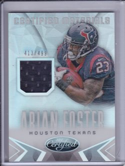 Arian Foster 2014 Certified Mirror Materials JSY /499
