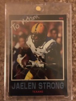 Jaelen Strong Personalized Auto