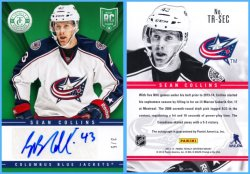 2013-14 Panini Totally Certified Rookie Signatures Green Insert Sean Collins