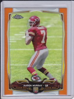 Aaron Murray 2014 Topps Chrome Orange Refractor RC
