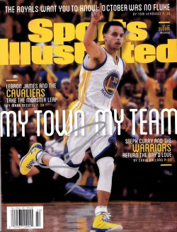 "2015  Sports Illustrated ""My Town My Team"" Magazine Stephen Curry IP Autograph"