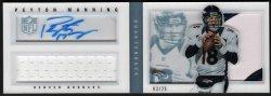 2013   Peyton Manning Playbook Platinum Parallel 3-CLR Patch Auto Booklet /25
