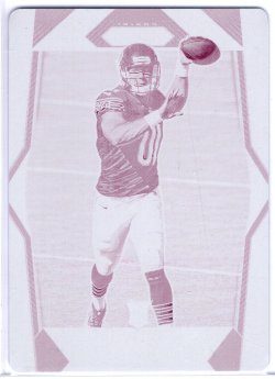 2017 Panini Plates and Patches Mitchell Trubisky Prizm Magenta Plate