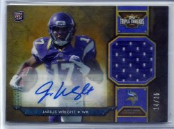 2012 Topps Triple Threads Relics Gold Jarius Wright